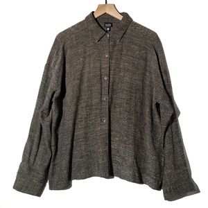 Eileen Fisher Woven Button Down I115